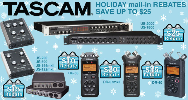TASCAM Holiday Rebate