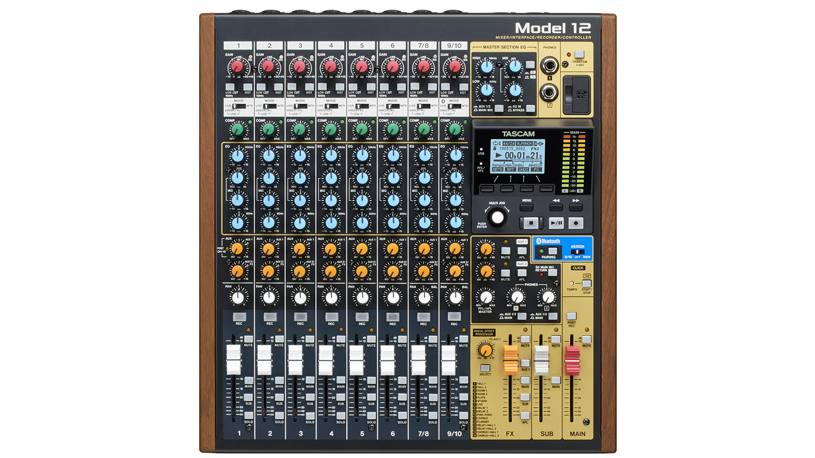 TASCAM Ships Model 12 Audio and Multimedia Production Switcher
