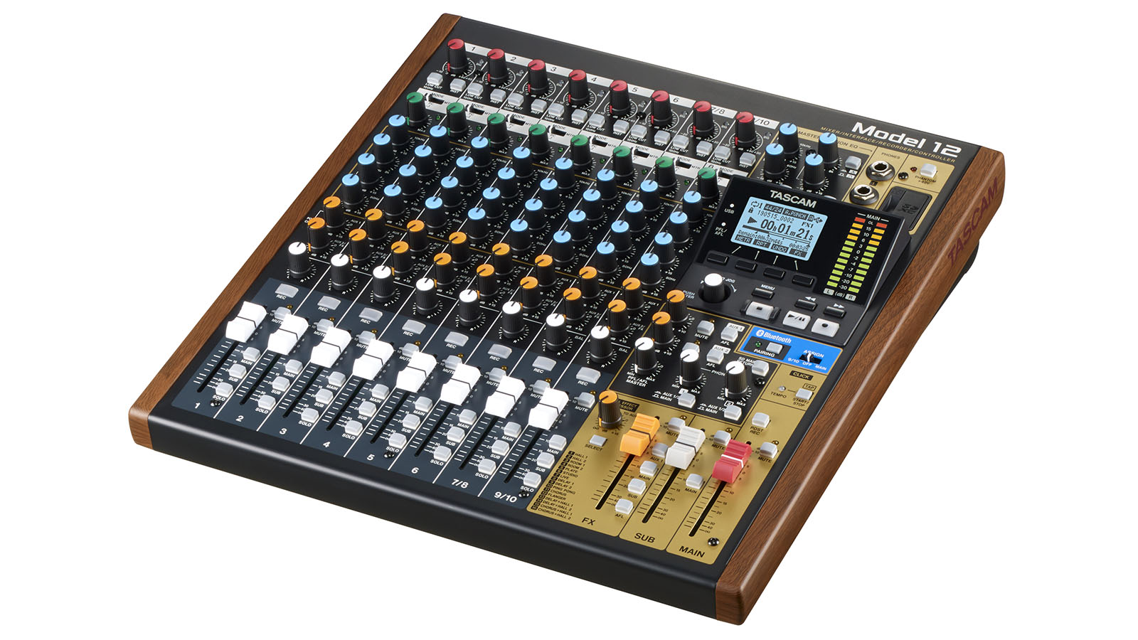 NAMM 2020: Tascam's Model 12 is a multitrack mixer and recorder at a keen price point