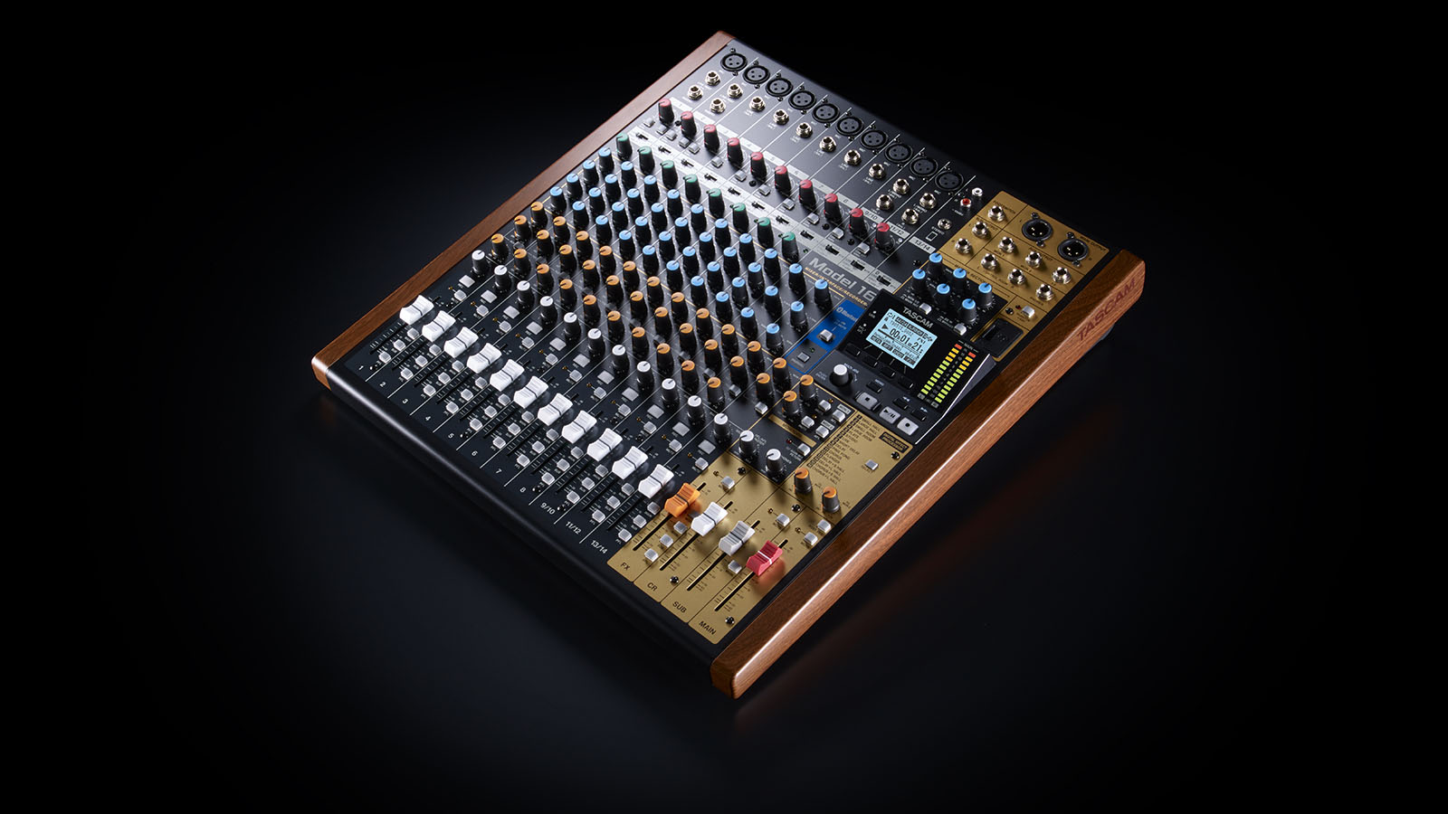 Tascam's Model 16 combines analogue feel with digital recording