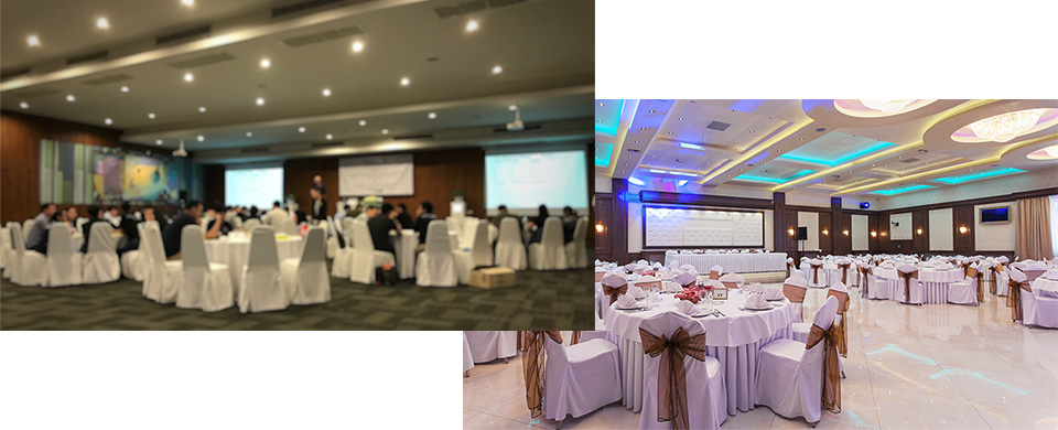Banquet rooms : For a suitable audio system according events