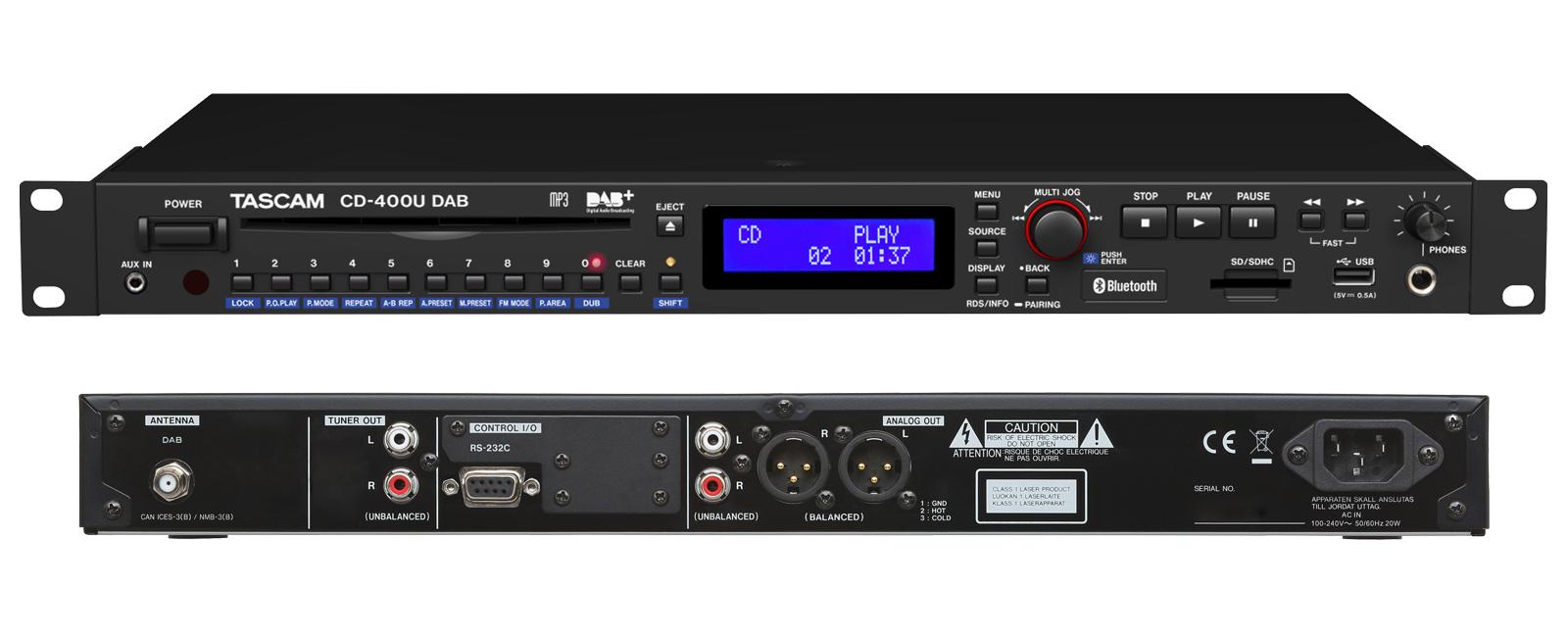 CD-400U DAB | OVERVIEW | TASCAM | International Website